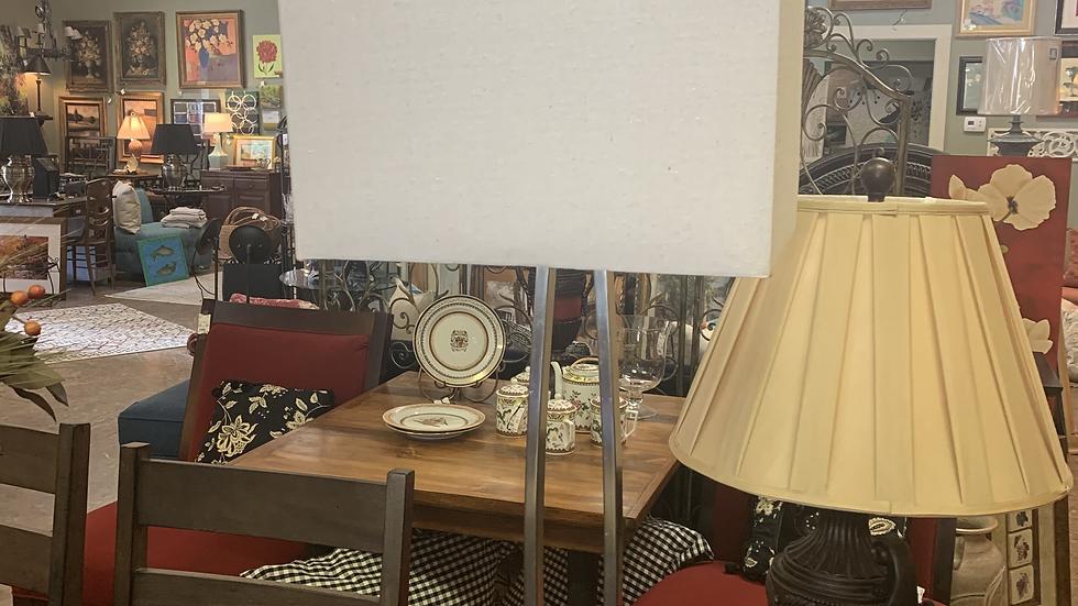 Modern Silver Lamp