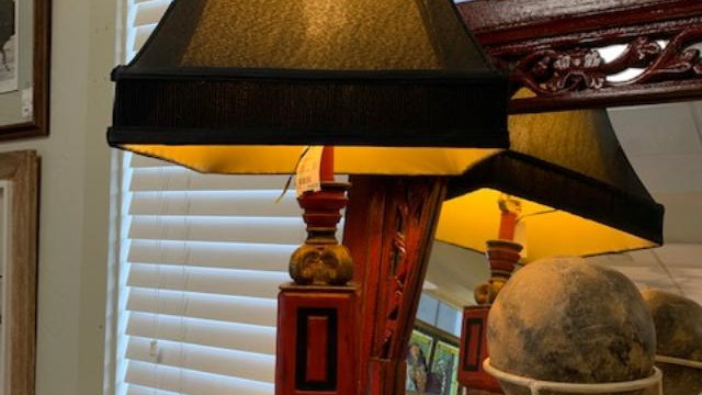 Red & Black Lamp ***SOLD***