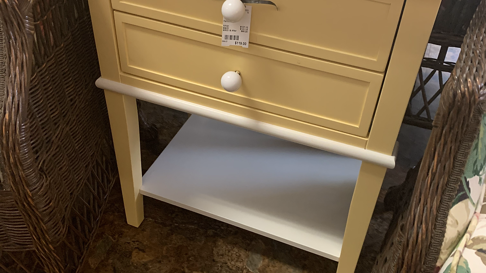 Painted Side Table or Nightstand