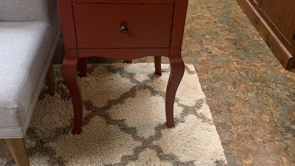 SET OF 2 Red Nightstands or Side Tables