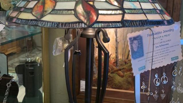 Tiffany Style Stained Glass Lamp***SOLD***
