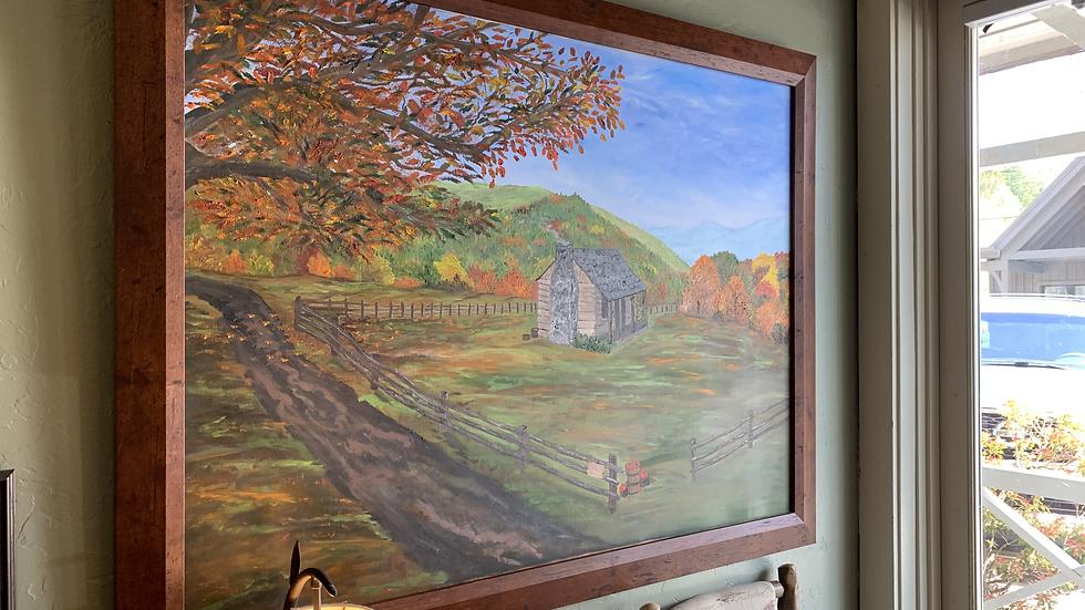 Old Farm House Oil Painting