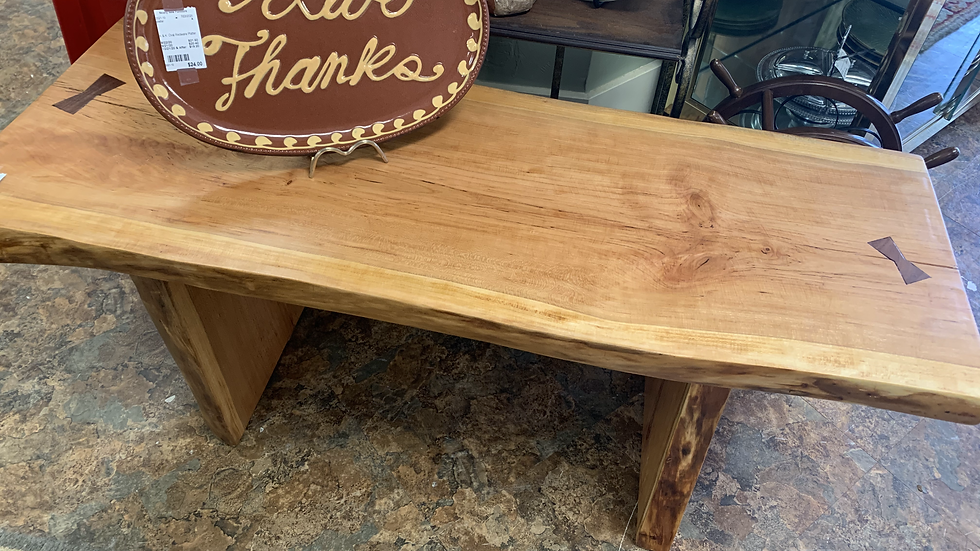 Locally Made Solid Cherry Bench ***SOLD***