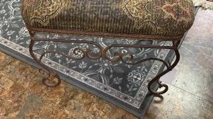 Iron Cushioned Footstool