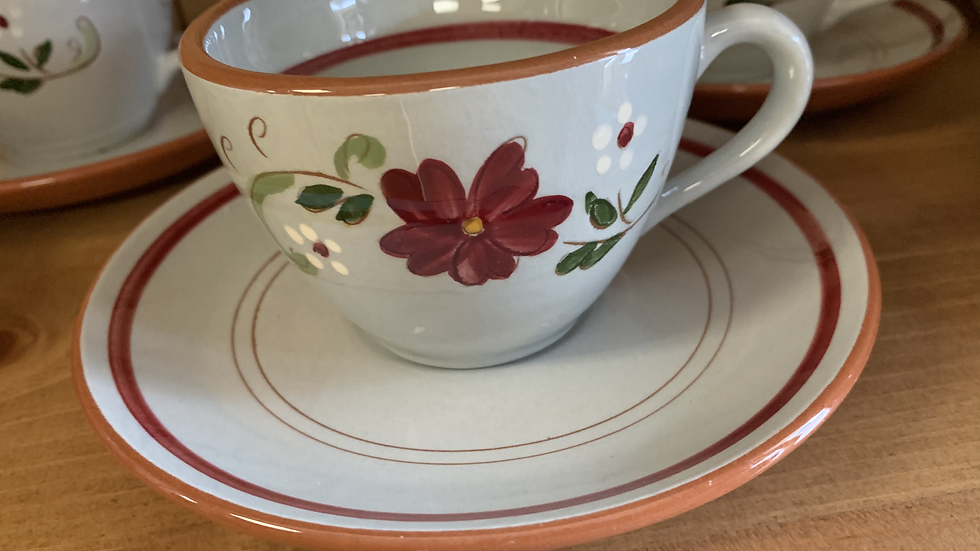 SET/10 Stangl Pottery Cups & Saucers