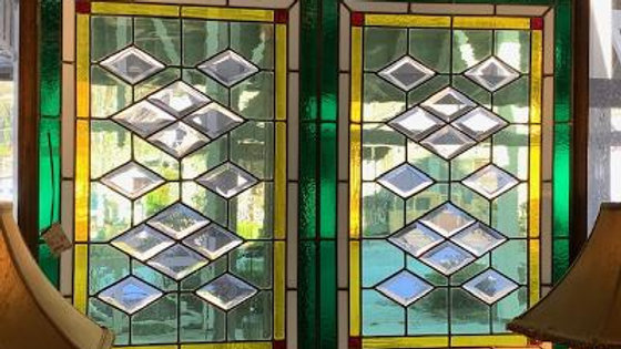 Large Framed Stained Glass ***SOLD***
