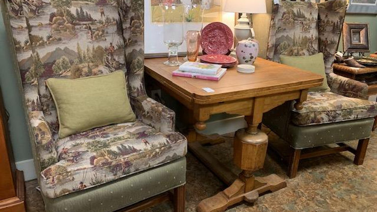 Tapestry Covered Wing Back Chair ****SOLD*****