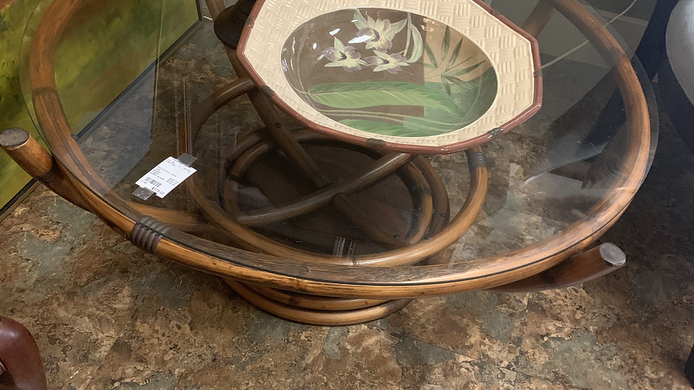 Retro Bamboo Coffee Table