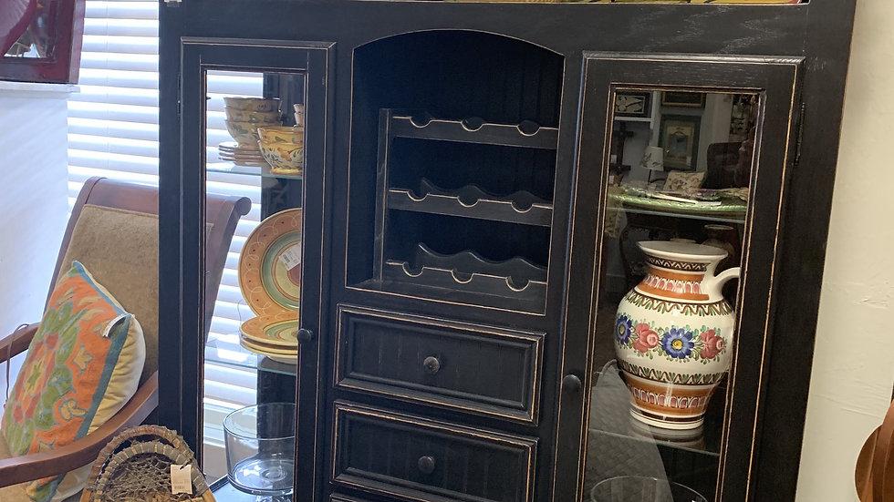 Black Cabinet with Wine Storage ***SOLD***