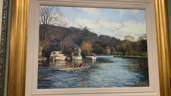 Original Oil Painting by Clive Kidder, 1950's to 1960's