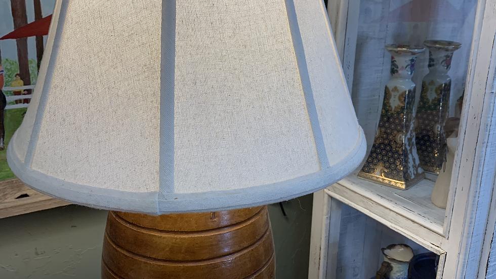 Bristol Stoneware Antique Barrel Lamp ***SOLD***
