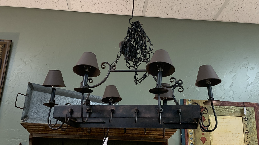Wrought Iron Chandelier / Pot Holder