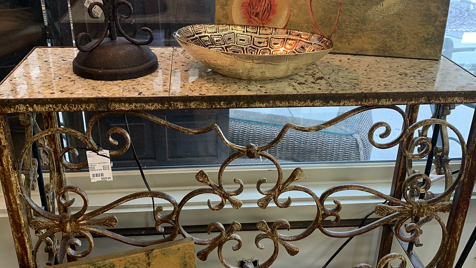 Antique Iron Gate/Marble Sideboard ***SOLD***