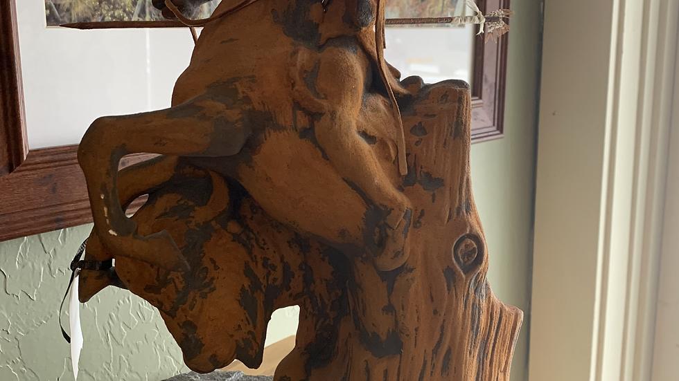 Clay Native American Sculpture