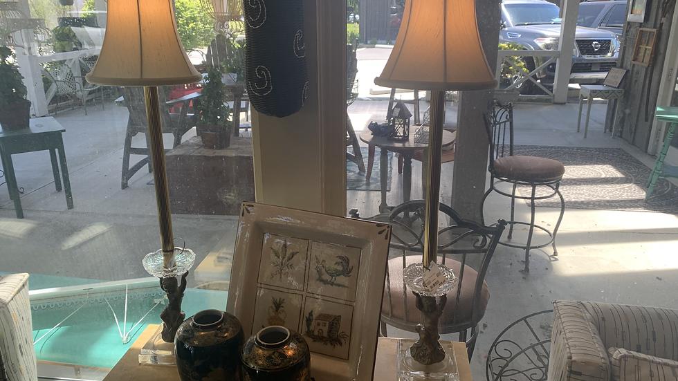 Brass Cherub Lamp