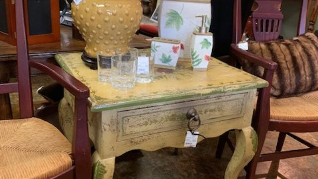 Antique Hand Painted Table