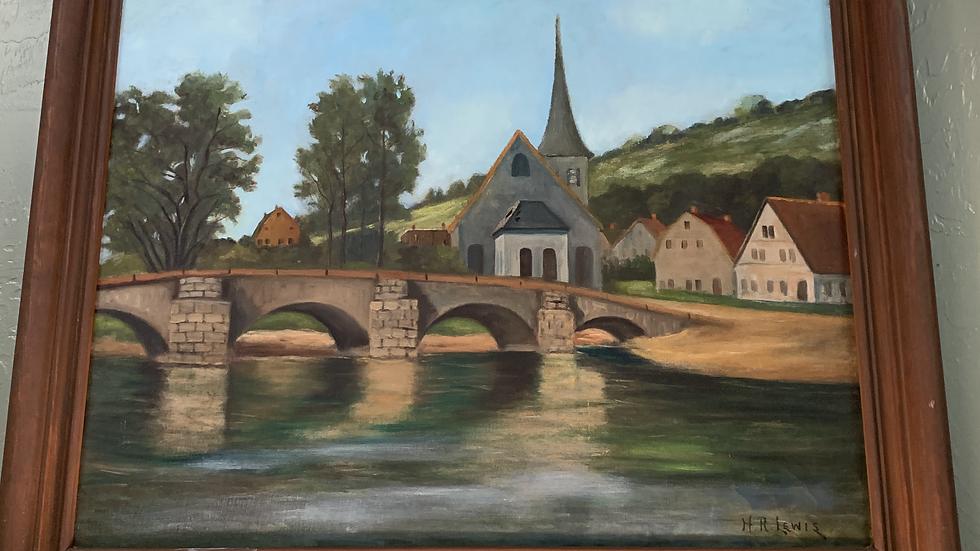 Original Painting by H.R.Lewis (1865-1952)