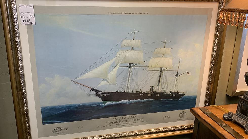 L.E. Signed CSS Alabama Print