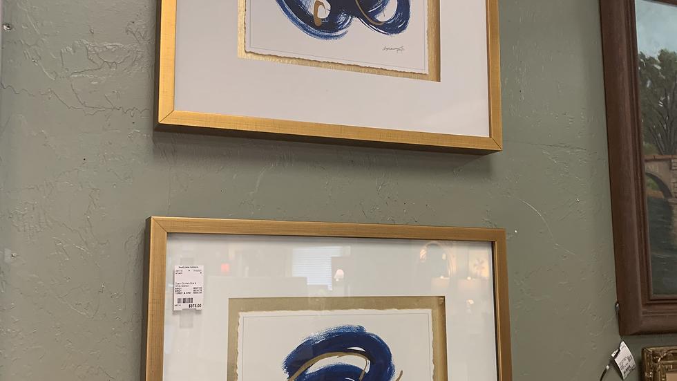 Dyann Gunters Blue & White Abstract