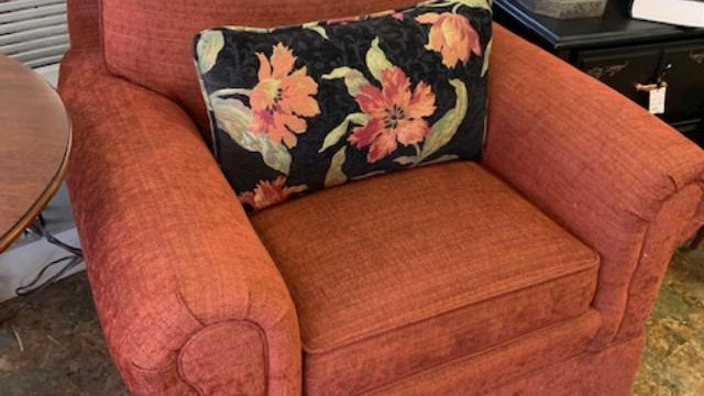 Upholstered Club Chair ***SOLD***