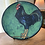 Thumbnail: Lg.Signed Hand Painted Rooster Platter