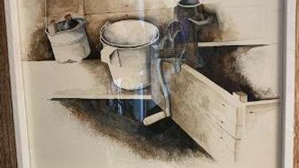 Rustic Framed Bucket Print