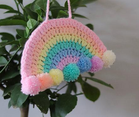 Pastel Crochet Rainbow