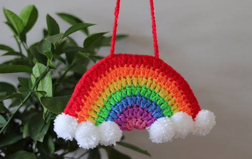 Bright Crochet Rainbow Large