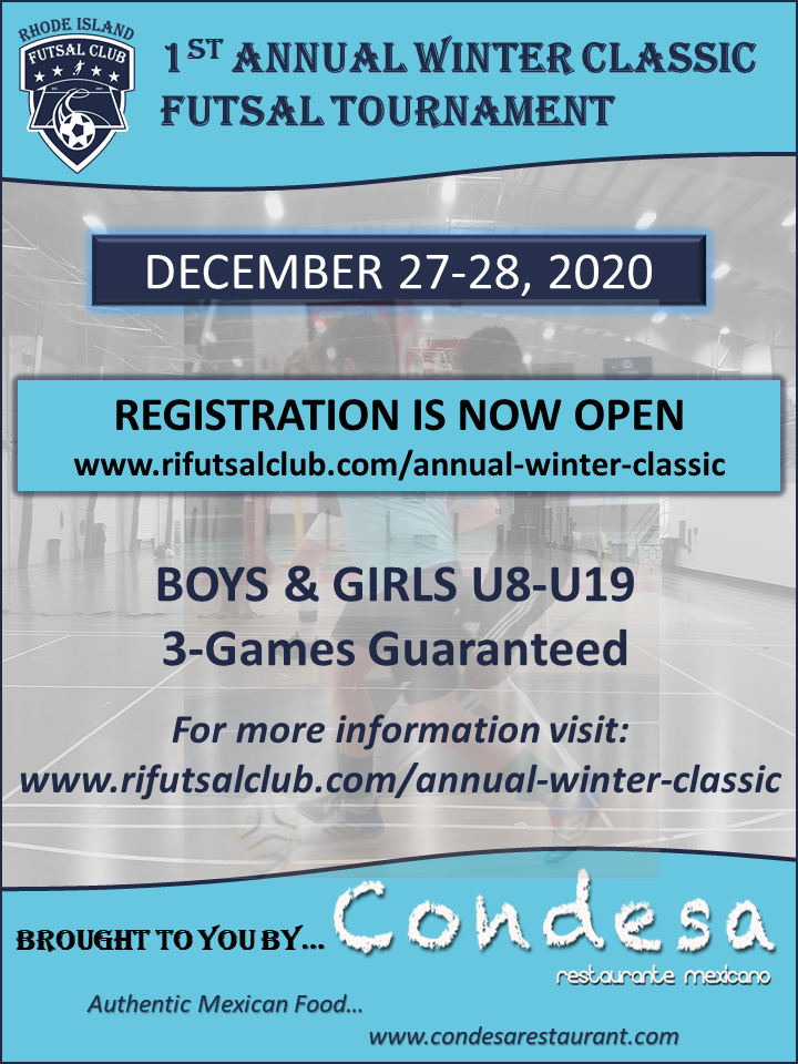Flyer - 1st Annual Winter Futsal Classic