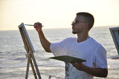 סדנאת אומנות בחוף בתל אביב