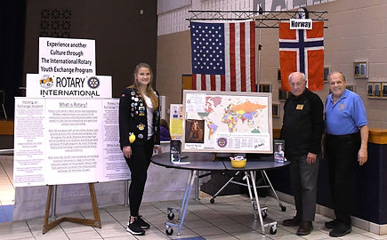 Rotary display LHS cultural Fair 3-7-19,