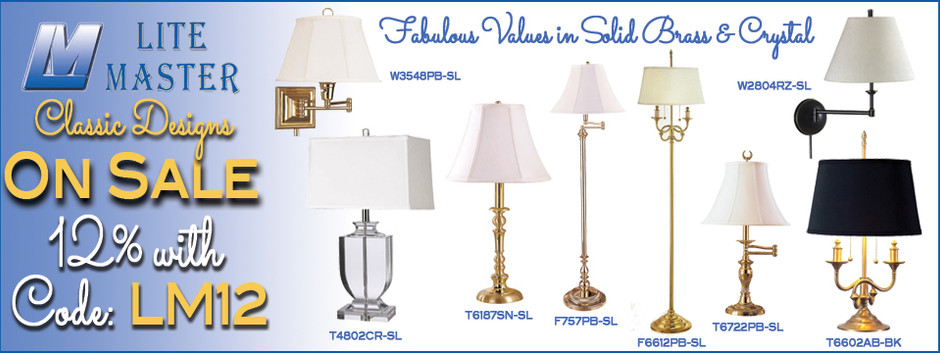 Lite Master Classic Solid Brass Lamps and more