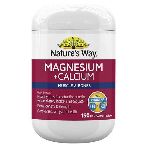 Nature's Way Magnesium Plus Calcium 150 Tablets