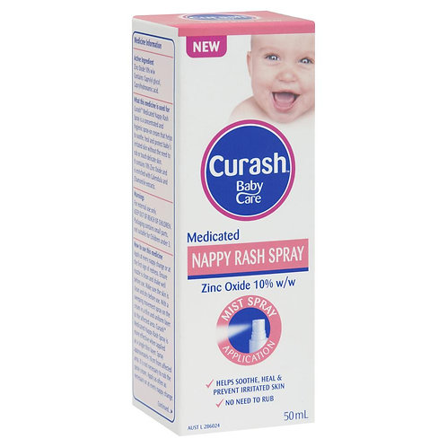 Curash Babycare Medicated Nappy Rash Spray
