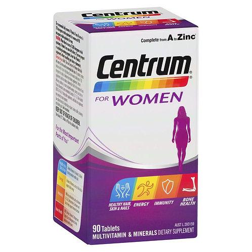 Centrum For Women 90 Tablets Exclusive Size