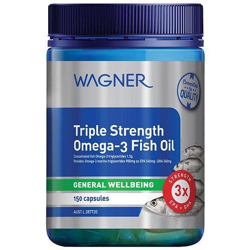 Wagner Triple Strength Omega-3 Fish Oil 150 Capsules