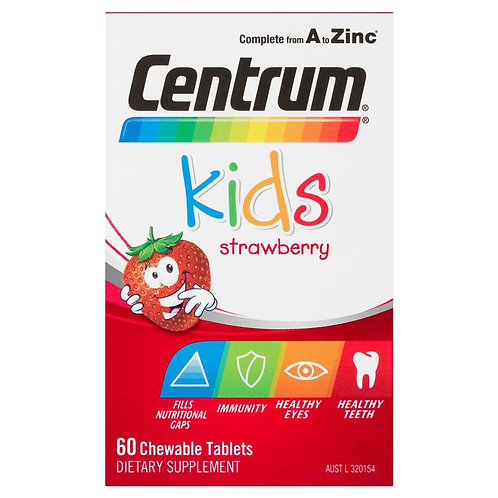Centrum Kids Multi Vitamin 60 Strawberry Tablets