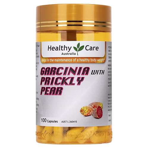 Healthy Care Garcinia With Prickly Pear (Cactus) 100 Capsules