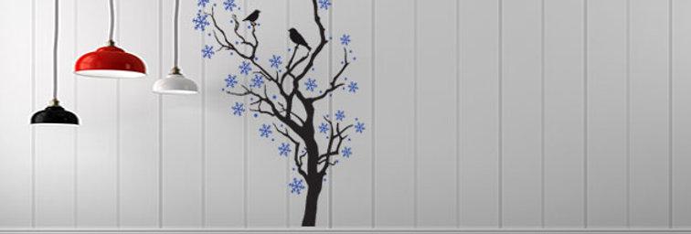 Árvore com Neve Vertical