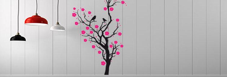 Árvore com Flores Vertical