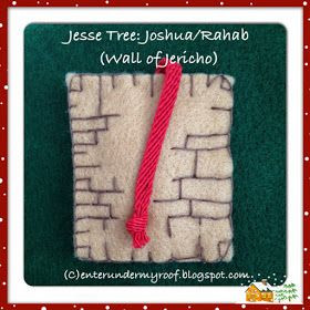 This is a felt decoration to remind people of the story.