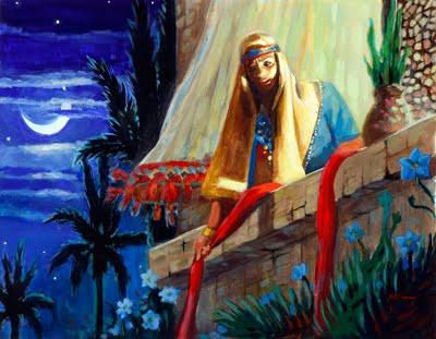 A drawing of Rahab.