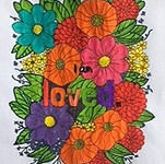 Beautiful colouring reminding us that we are loved.