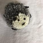 A wonderful pom pom sheep - part of our very creative flock!