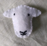 A beautiful felt sheep made by one of our members.