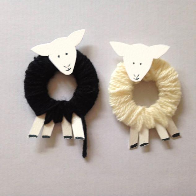 Two beautiful woolly sheep!