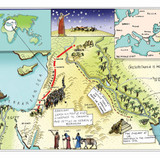 This is the journey Abraham took. It took a long time!