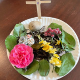 A beautiful Easter Garden made by one of our Ark members.