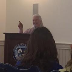 Jane speaking at UNE
