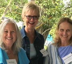 Jane and friends at the Book Festival